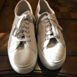 Superga platform sneaker. Worn 2 times.